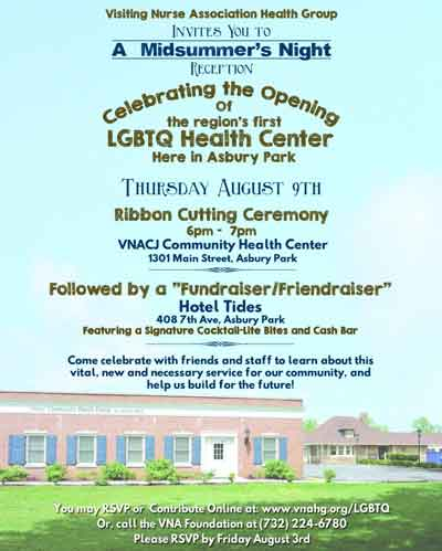 VNA Community Health Center to hold Grand Opening of LGBTQ+ Center in Asbury Park, NJ