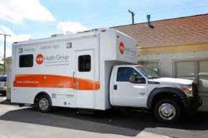 VNA Community Health Center mobile van in Asbury Park, NJ