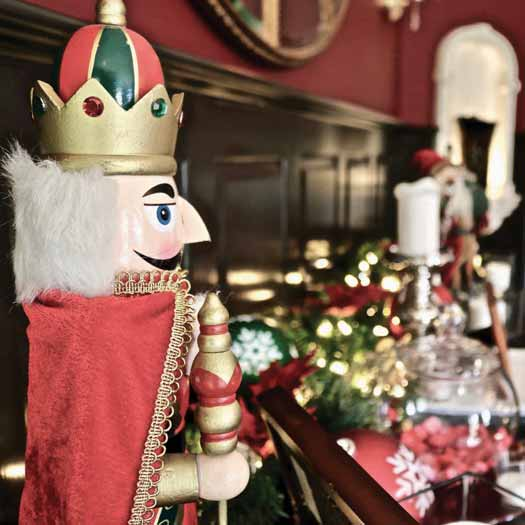 Christmas Holiday dining room photo of Nutcracker and decorations