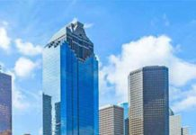 A small part of the Houston Texas skyline