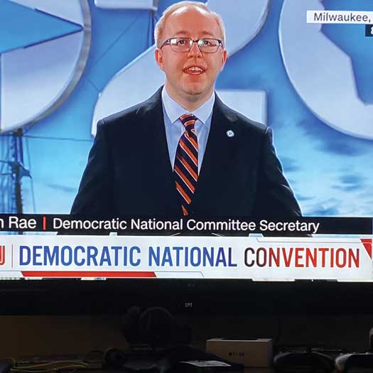 Jason Rae Democratic National Committee Secretary in 2020