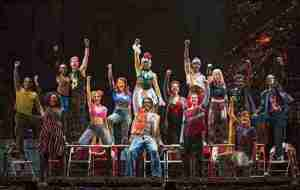"Javon King in the National tour of ""Rent"""