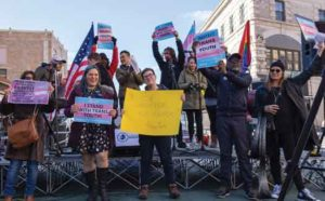 Jersey City, NJ Transgender March on February 3 2017. Photo by B. Nick.