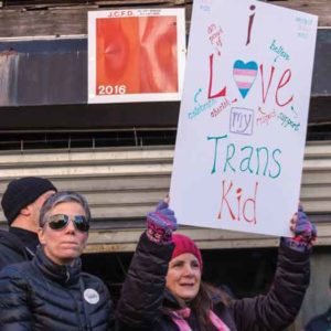 Jersey City, NJ Transgender March on February 3 2017. Photo by B. Nick.