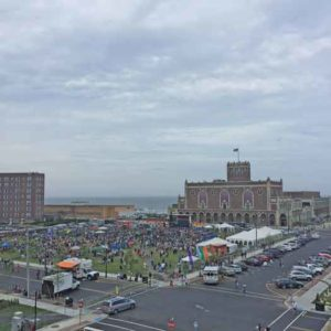 Jersey Pride 2016. A birds-eye view in Asbury Park of the NJ LGBTI Pride festival grounds.