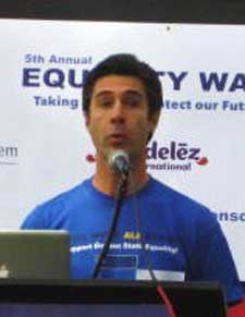 John Mikytuck at Garden State Equality event in 2015