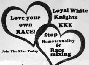 KKK  flyer distributed this Sunday in Southern New Jersey towns