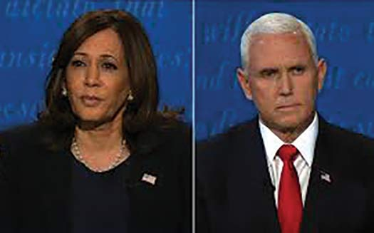 U.S. Senator Kamala Harris and Vice President Mike Pence