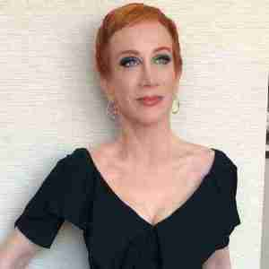 "Kathy Griffin in 2018 on the ""Laugh Your Head Off Tour"""