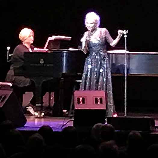 Kristin Chenoweth on stage at Mayo PAC. Photo by Will Loschiavo