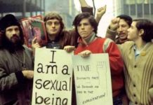 LGBT History month photo from Stonewall period and Gay Liberation Front