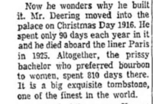Portion of text from a 1920s newspaper