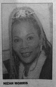 Nizah Morris newspaper photo