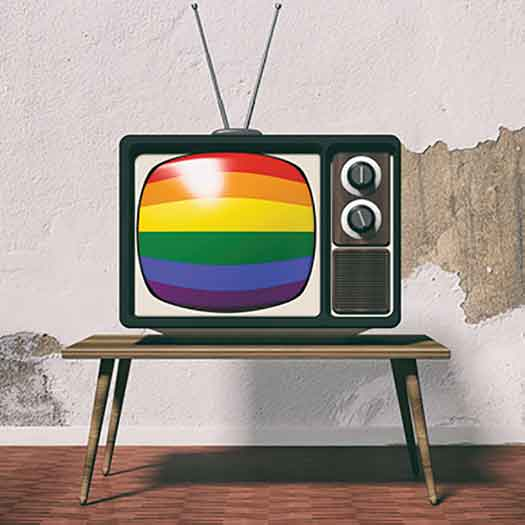 Rainbow Flag on the television