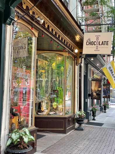 La Chocolate Box storefront in Lambertville, NJ