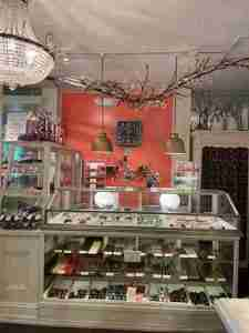 La Chocolate Box counter in Lambertville, NJ