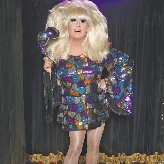 Lady Bunny on stage in 2016