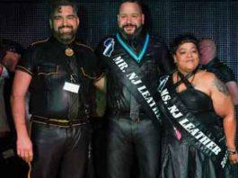 Rai Guerra, Mr NJ Leather 2018 in center