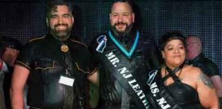 Rai Guerra, Mr NJ Leather 2018 in center