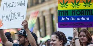 Legalize marijuana protest at Twin Cities Pride Parade photo