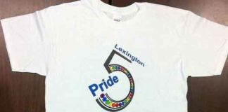 Lexington Kentucky Gay Pride shirt that printer refused to print in 2012