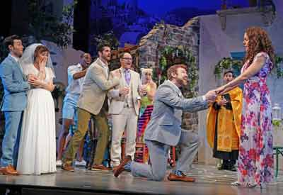 The Bucks County Playhouse in New Hope, Pennsylvania with the musical Mamma Mia!