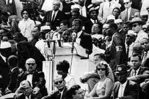 John Lewis speaking at the 1963 March on Washington D.C.