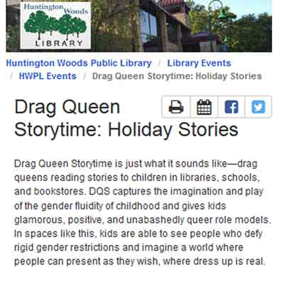 Drag Queen story hour in Michigan