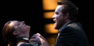 """Saint Joan"" features Andrus Nichols and Eric Tucker in this photo by T. Charles Erickson"