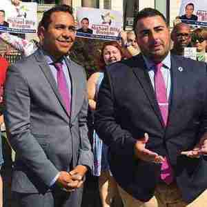 Michael Bisogno to be named Hudson Pride Connections Executive Director today. He is pictured on the left with Garden State Equality's Christian Fuscarino on the right