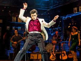 """Scene from """"Million Dollar Quartet playing now at the Paper Mill Playhouse"""