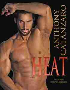"Fitness model Anthony Catanzaro on the cover of his book ""Heat."""