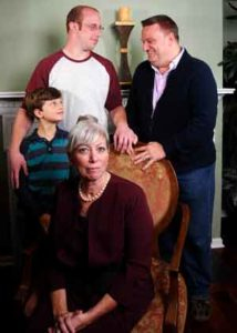 """The cast of """"Mothers and Sons"""" at The Barn Theatre in Montville, NJ"""