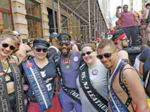 Mr. International Leather 2019 Jack Thompson is on the right