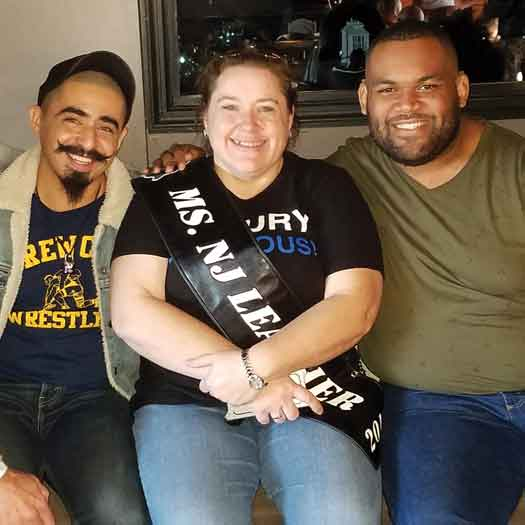 J.L. Gaynor is Ms. NJ Leather 2019 (center) Photo by Christopher Krakora.