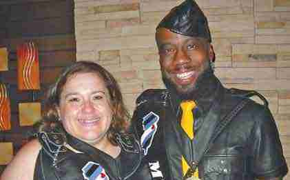Lynx Onyx (on right) is Mr. NJ Leather 2019. He is pictured here with Ms. NJ Leather 2019 J.L. Gaynor. Photo by Christopher Krakora.