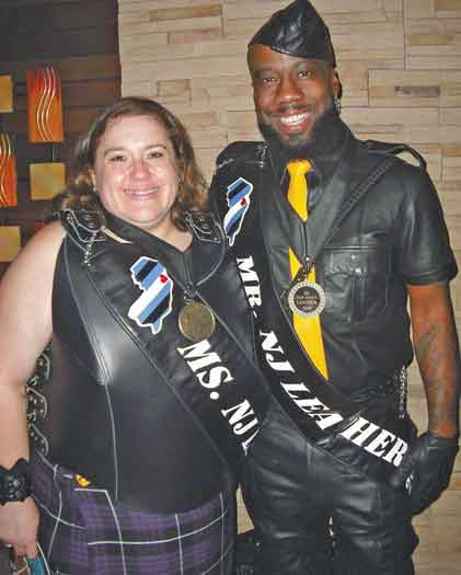 Lynx Onyx (on right) is Mr. NJ Leather 2019. He is pictured here with Ms. NJ Leather 2019 J.L. Gaynor.