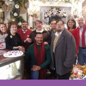 From left to right: Taylor Kurilew, Lois Cataldo - Owner of the Brass Lantern, Richard Alagona, Tim Ryan, Rey Joé García, Leyland Brenner, Thom Reese, Patty Mancuso and Tom Myers