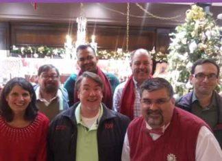 NJGMC members in back row: Thom Reese, Rey Joé García, Tom Myers, Leyland Brenner Front row: Patty Mancuso, Tim Ryan, Richard Alagona.