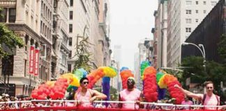 Heritage of Pride banner at NYC Pride Parade