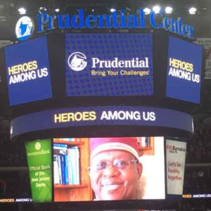 NJ Devils honor James Credle at LGBT Pride night on 2-27-17 photo by Jai Quinlan