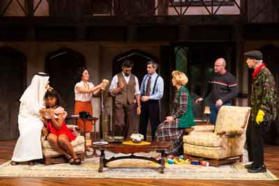 "The cast of ""Noises Off"" at Two River Theater photos by T. Charles Erickson"