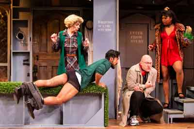 "Scene from ""Noises Off"" at Two River Theater. Photos by T. Charles Erickson"