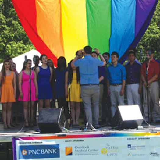 North Jersey Pride stage in Maplewood in 2014