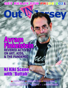 The cover of the Out In Jersey magazine June/July 2021 LGBTQ Pride issue