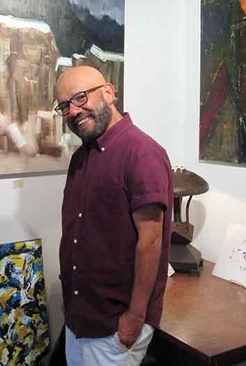 Ramon Robledo in his Lambertville, NJ studio