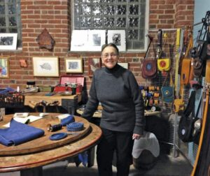 Arleen Olshan shows the art and space inside Mt Airy Art Garage