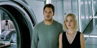"""Passengers"" stars Chris Pratt and Jennifer Lawrence."