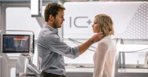 """Passengers"" stars Chris Pratt and Jennifer Lawrence."