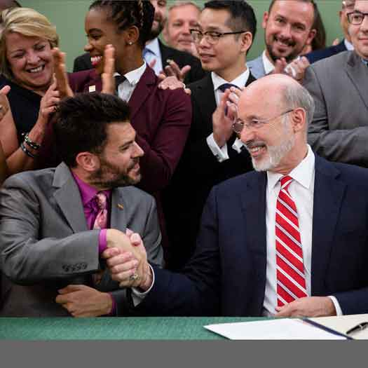 Pennsylvania Governor Tom Wolf signed an executive order on Monday, forming the commission on LGBT affairs.